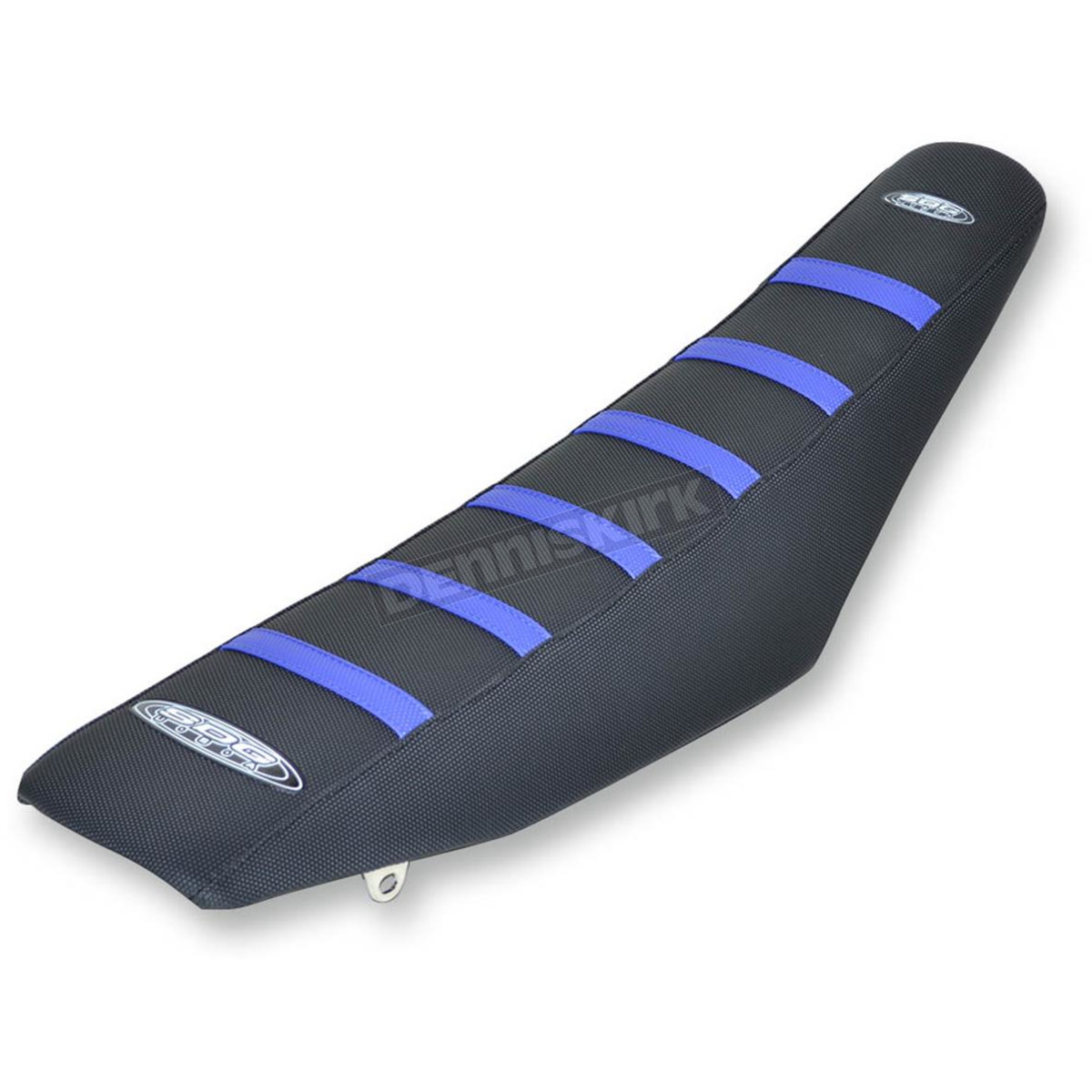 Sdg Black 6 Rib Gripper Seat Cover With Blue Ribs