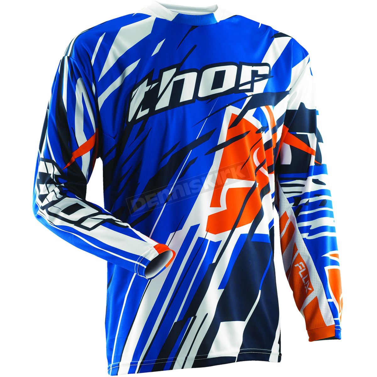 Thor Blue Flux Shred Jersey