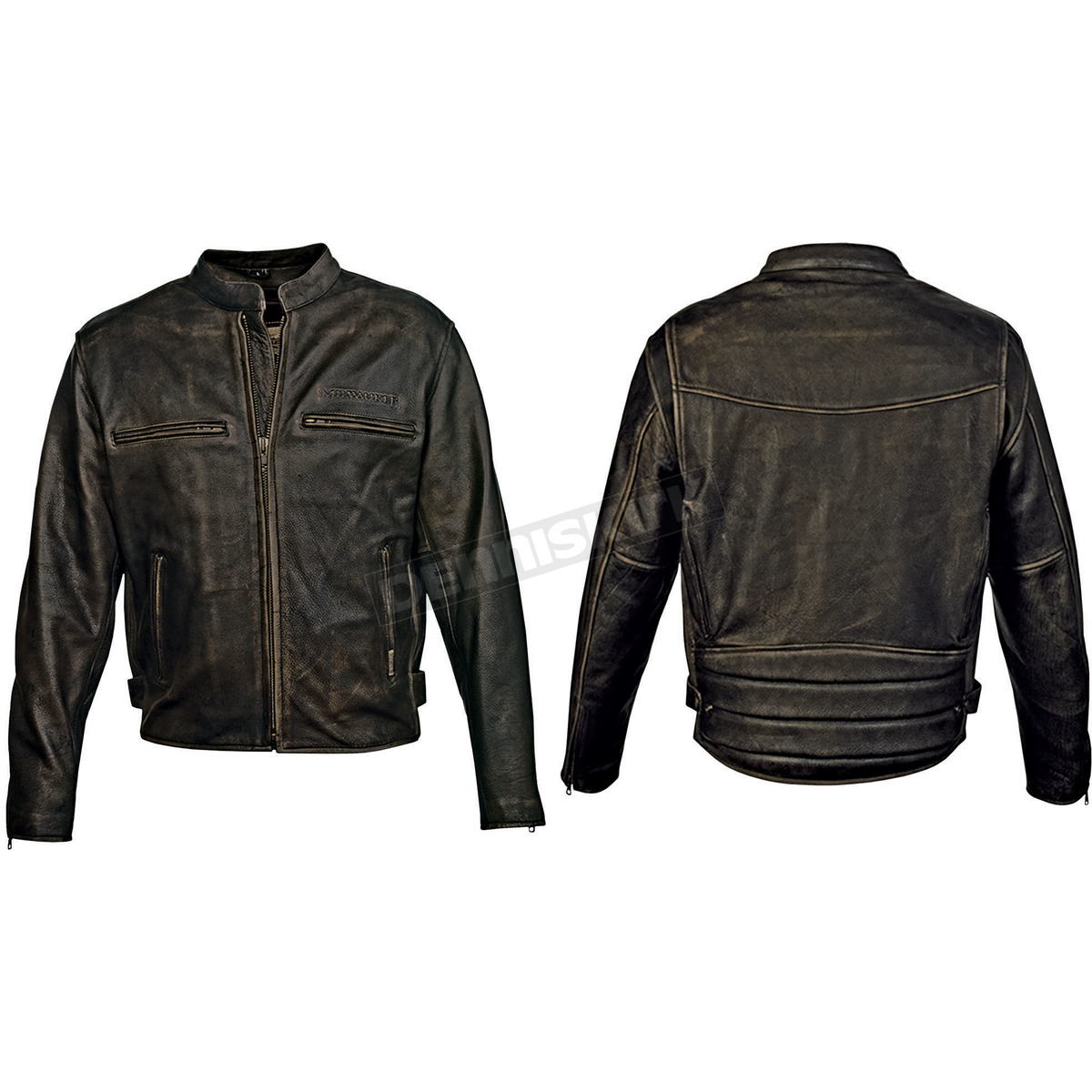 milwaukee motorcycle clothing co vintage black distressed