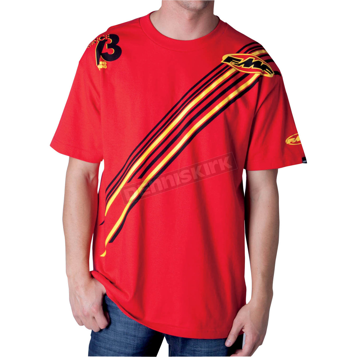 Fmf cardinal red race ready t shirt f421s18112redxl atv for Cardinal color t shirts