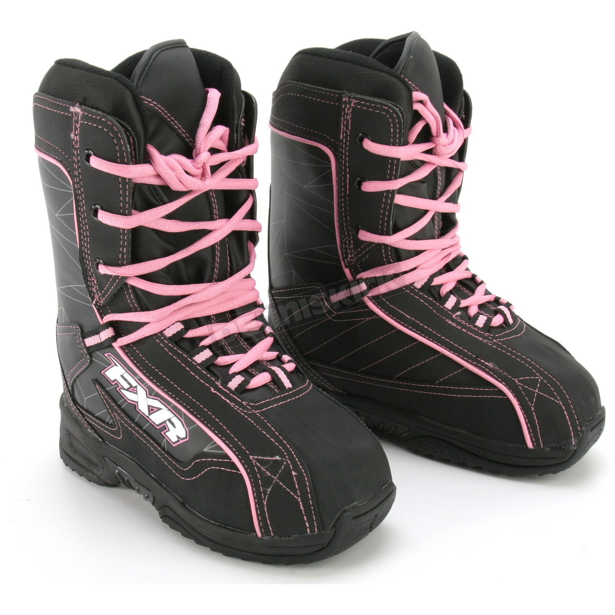 fxr racing womens black pink cold cross boots 2900