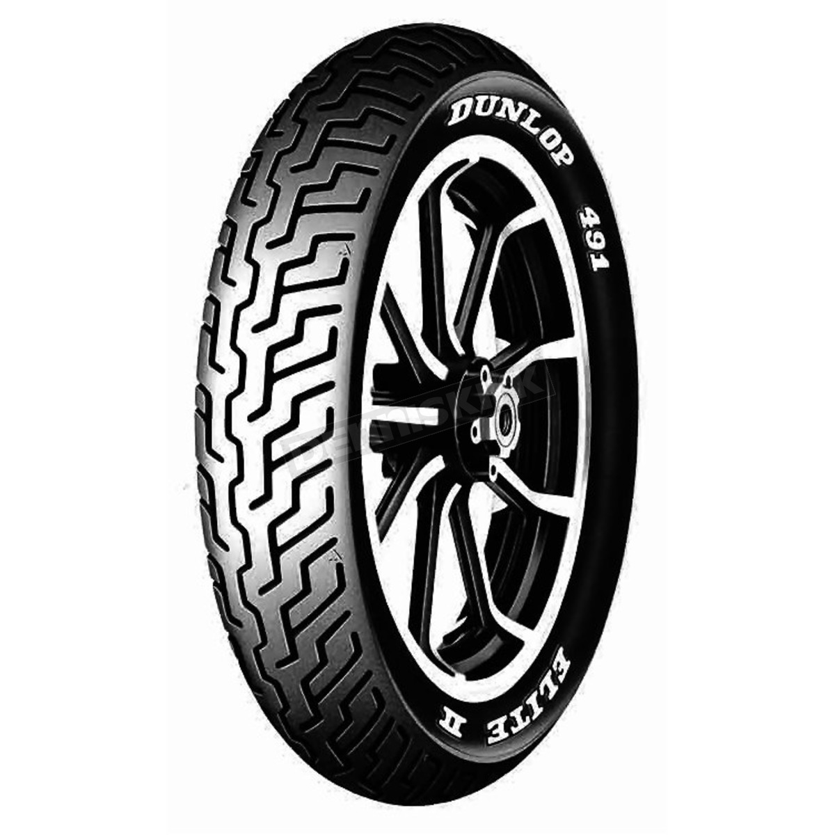 Dunlop front k491 elite ii touring mm90h 19 raised white for Dunlop white letter motorcycle tires