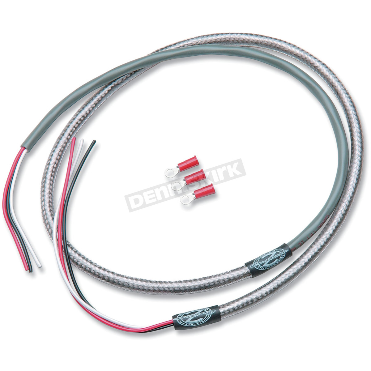 namz custom cycle products 48 in tachometer braided stainless steel wire harness nth4801