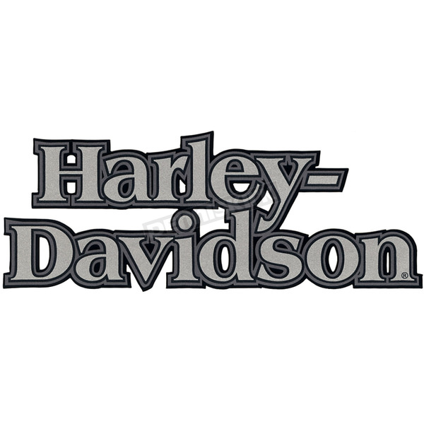 Harley Davidson Inc Stacked Black Silver Gas Tank Decal