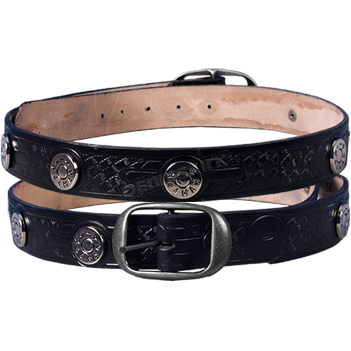 leathers 44 mag studded leather belt ble1007 46