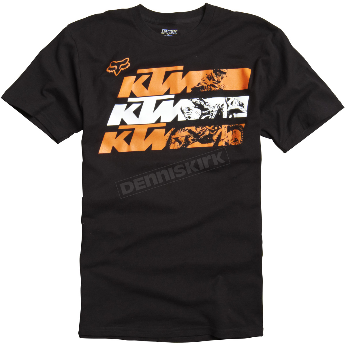 fox black ktm shadow t shirt 07378 001 2x atv dirt bike dennis kirk inc. Black Bedroom Furniture Sets. Home Design Ideas