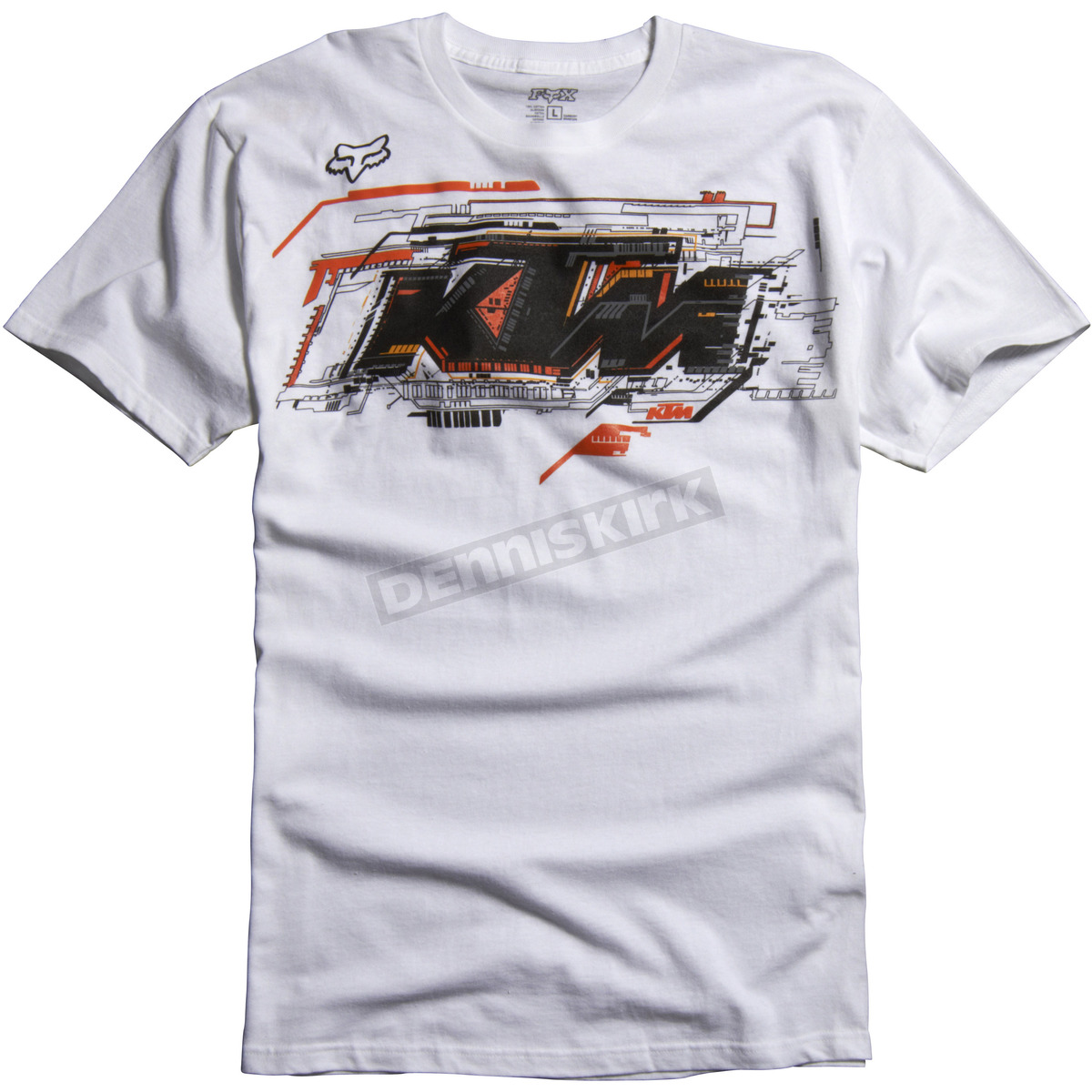 fox kids white ktm layout t shirt 07383 008 s atv dirt bike dennis kirk inc. Black Bedroom Furniture Sets. Home Design Ideas
