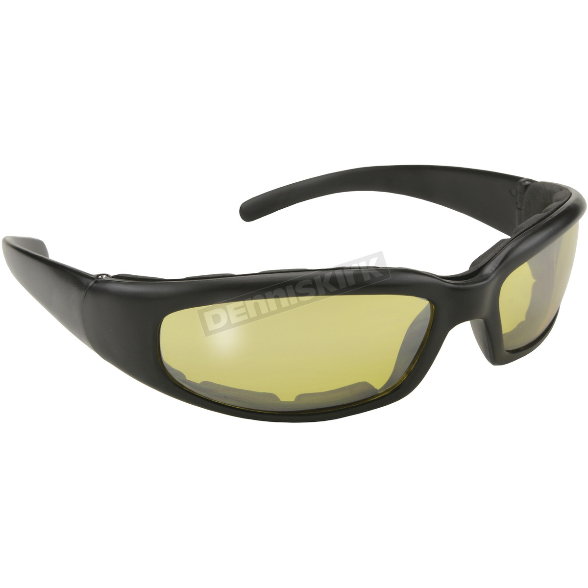 kickstart eyewear black rally sunglasses w yellow lens